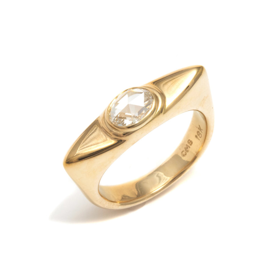 Ancient Signet Rose Cut Diamond Ring