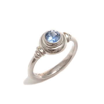 Platinum Ring with Sapphire