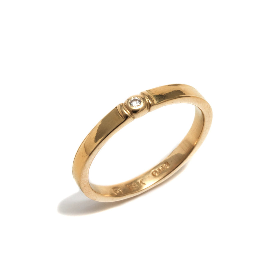 Band Style Ring with Diamond