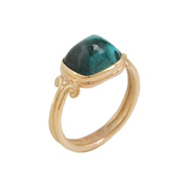 Sugarloaf Shaped Tourmaline Ring
