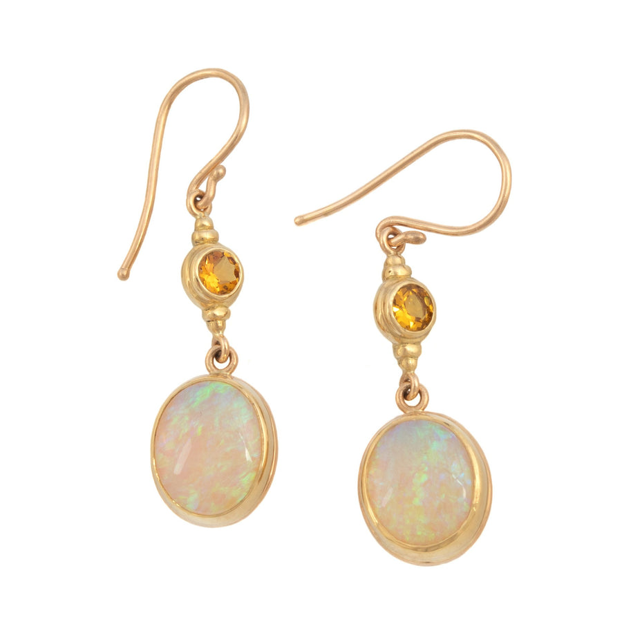 Opal & Citrine Earrings