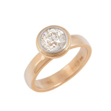 Stackable Band Style Solitaire Engagement Ring
