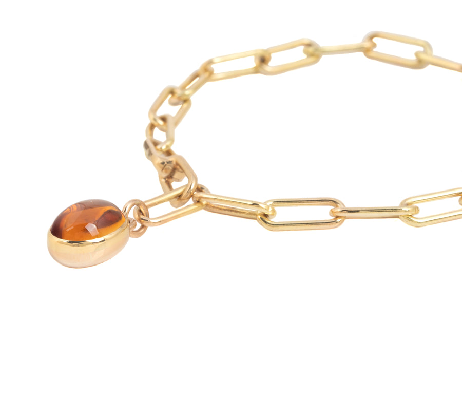 Cup Charm Bracelet with Citrine