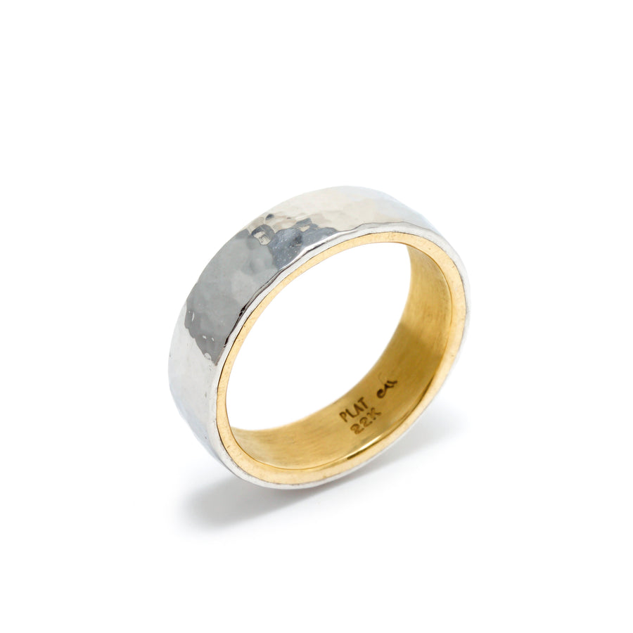 Platinum and 22k Gold Wedding Band