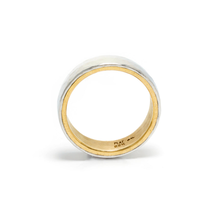22K Gold and Platinum Wedding Band