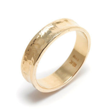 Concave Peened Men's Wedding Ring