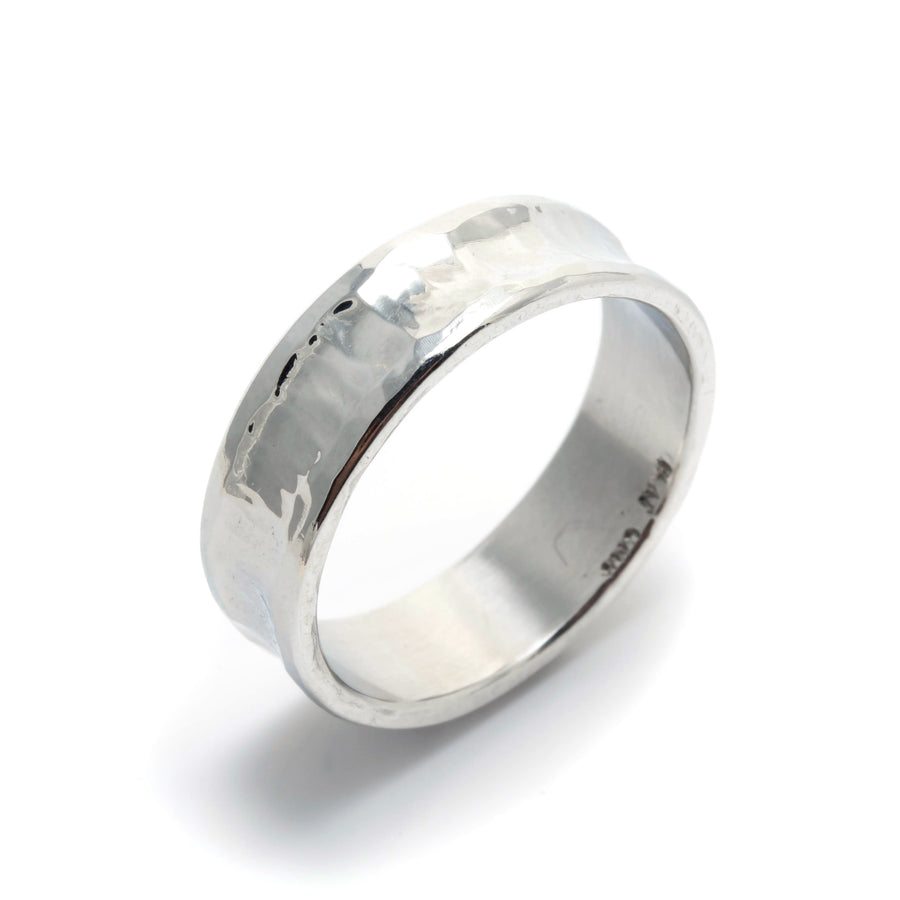 Forged Platinum Wedding Band