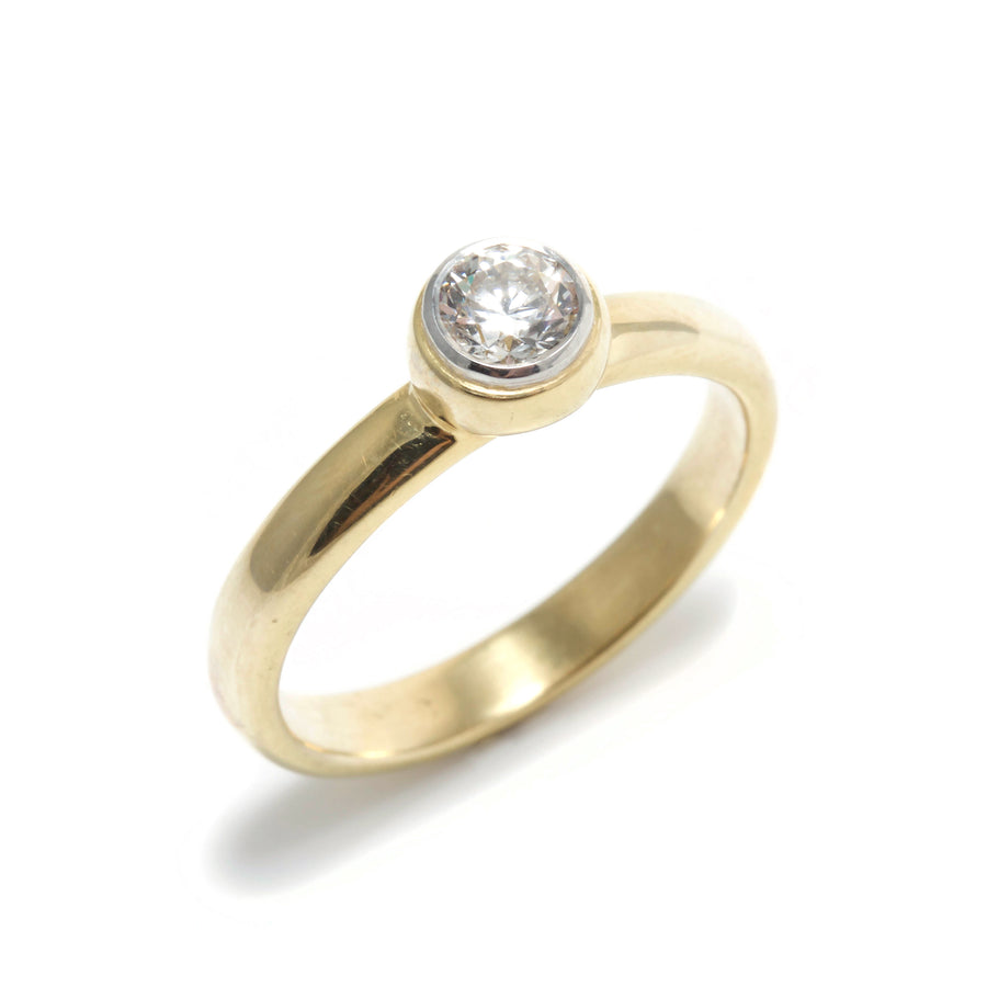 Simple Bezel Set Diamond Ring