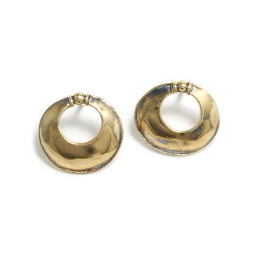 Large Door-Knocker Stud Earrings