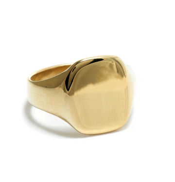Curved-Cornered Signet Ring