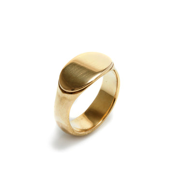 Small Elongated Oval Signet Ring