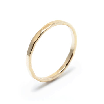 Skinny Faceted Hammered Band