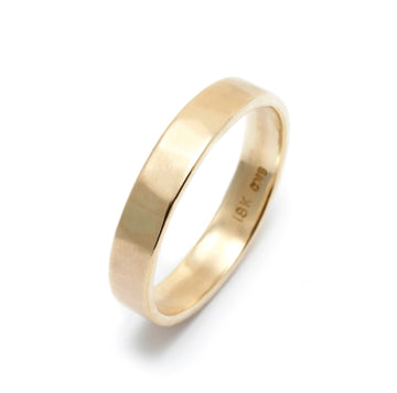 Matte Finish Hammered Wedding Ring