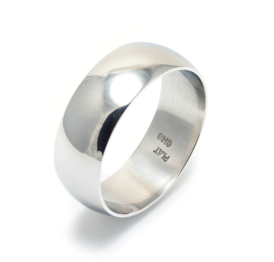 Wide Platinum Wedding Ring