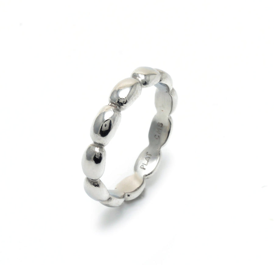 Small Pebble Stacking Ring