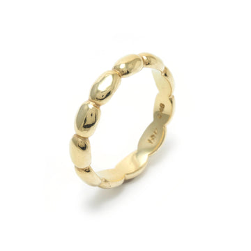 Medium Pebble Stacking Ring in 18K Gold