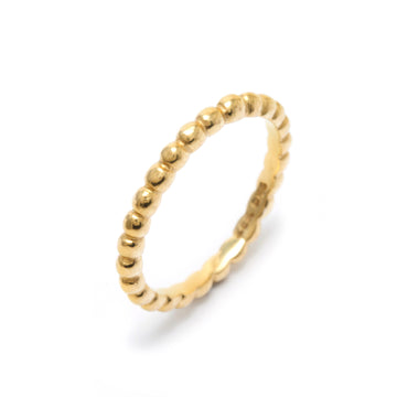 Skinny All Around Tiny Pebble Ring in 22K