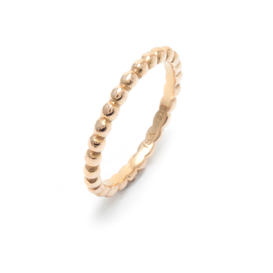 Rose Gold Skinny All Around Tiny Pebble Ring