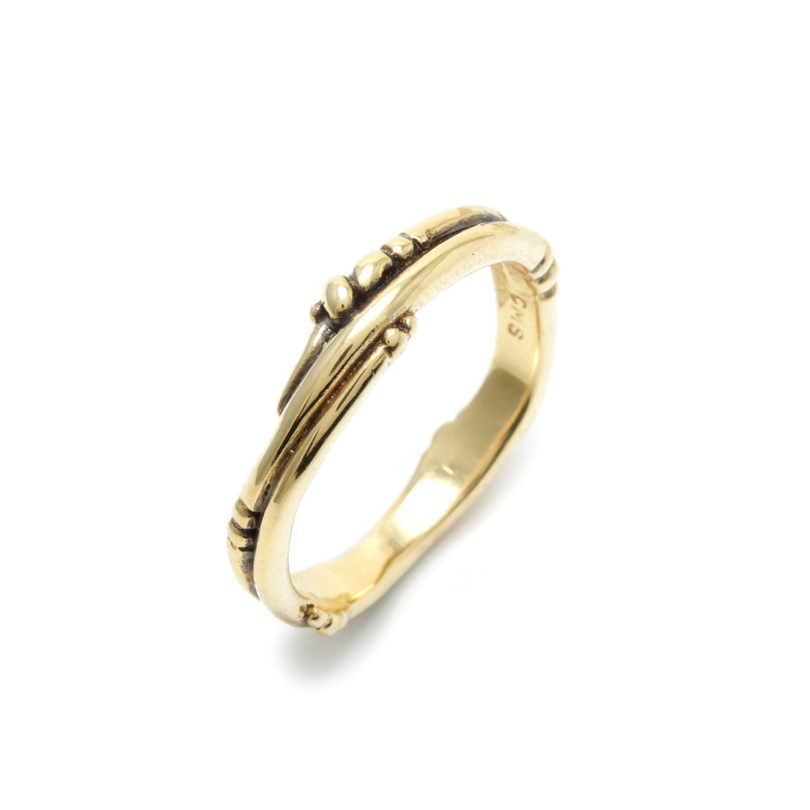 Vine & Bead Wedding Band