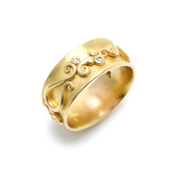Gold Band with Intricate Detail