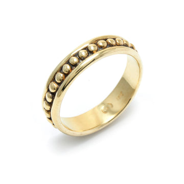 Large Beaded Motif Wedding Band