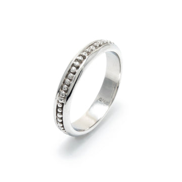 Platinum Beaded Wedding Ring