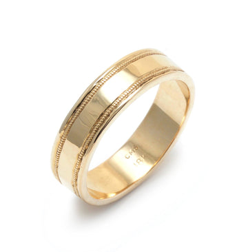 Wedding Band with Millegrain Details