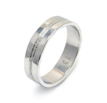Millegrained Center Wedding Band