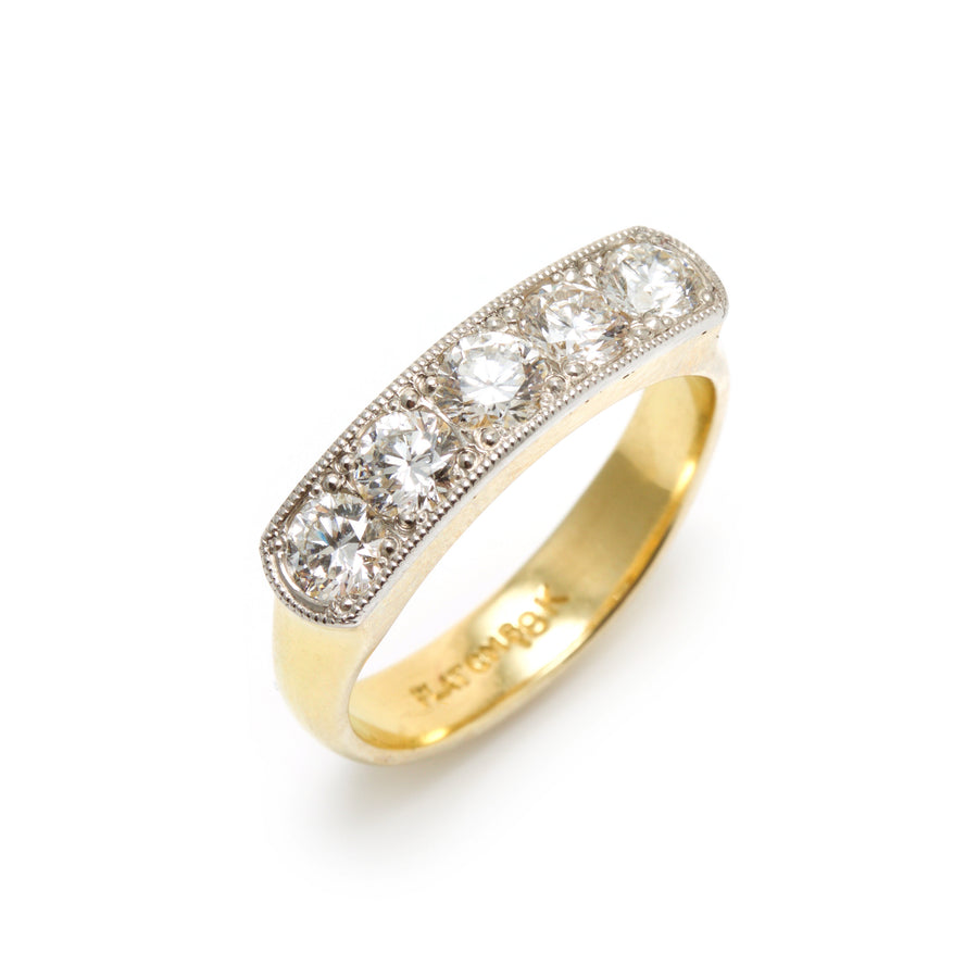 Bead Set Diamond Anniversary Ring