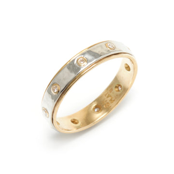 Platinum, 18K Gold and Diamond Band