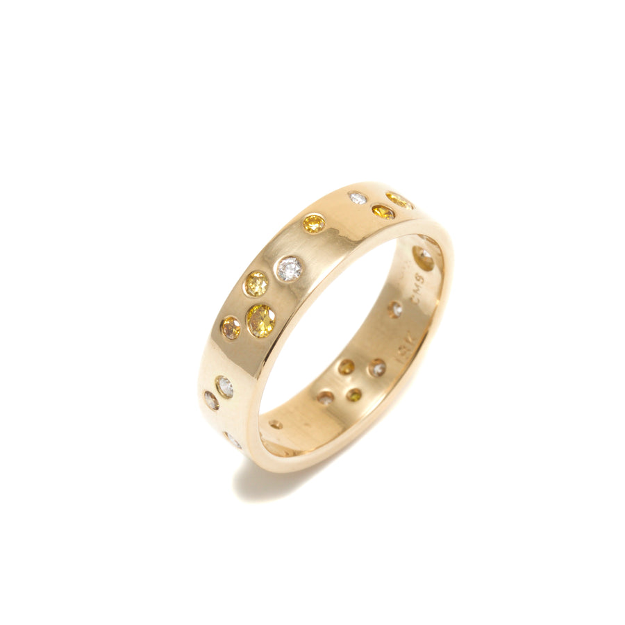 Starlight Diamond Ring with Yellow Diamonds