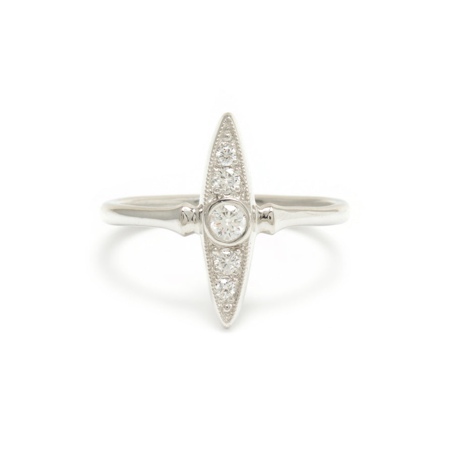 Diamond Navette Style Ring in Platinum