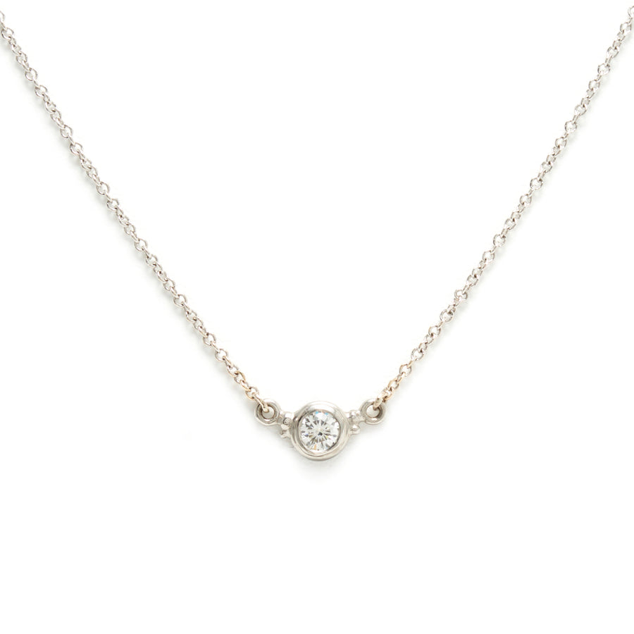Double Hung Diamond Necklace in Platinum