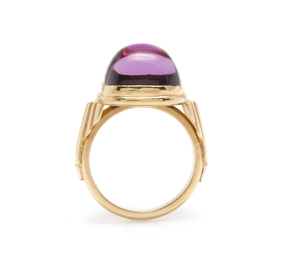 Art Deco Inspired Amethyst Cocktail Ring