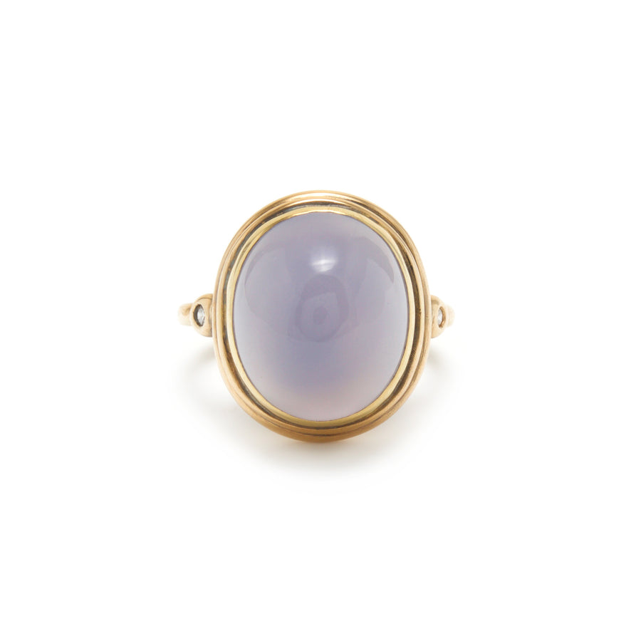 Large Gemstone Ring with Chalcedony