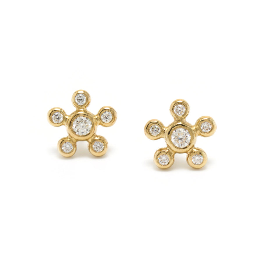 Diamond Burst Stud Earrings