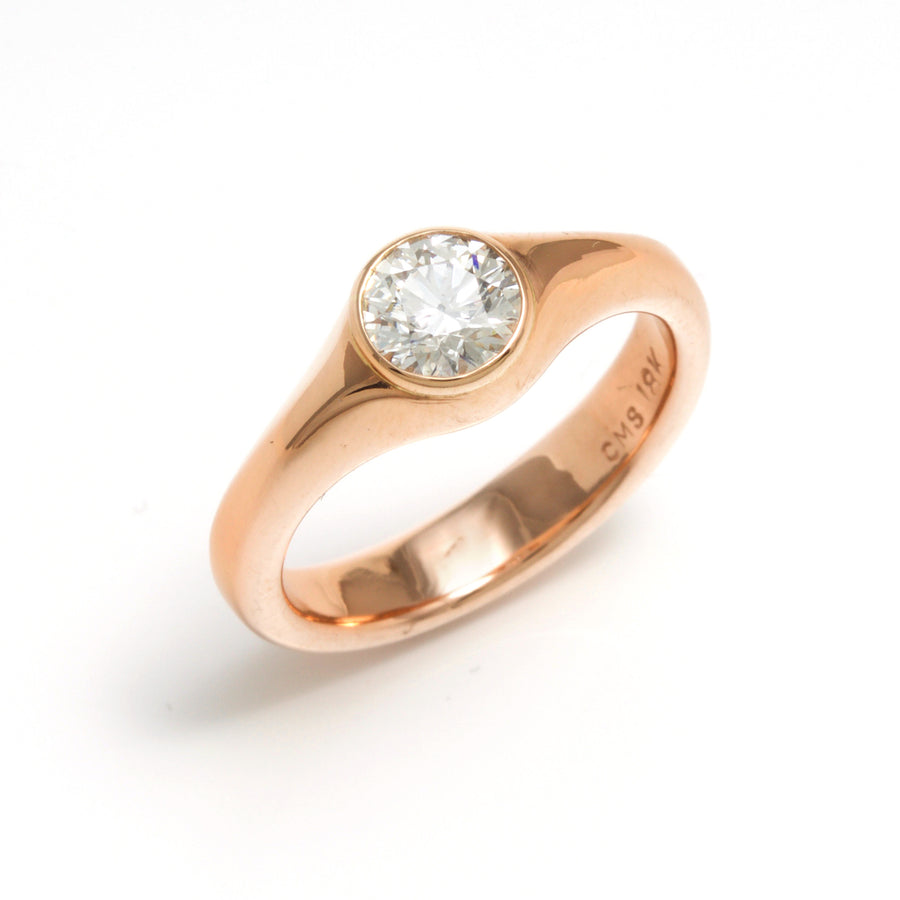 Rose Gold Band Style Diamond Ring