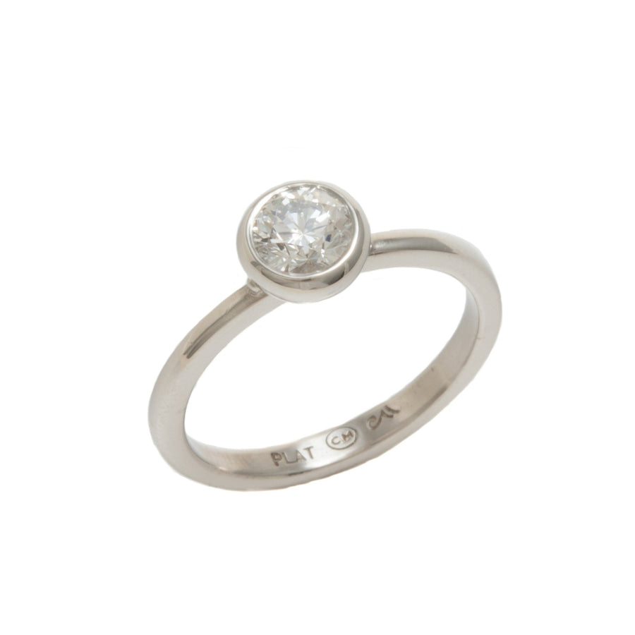 Round Brilliant Stackable Diamond Ring