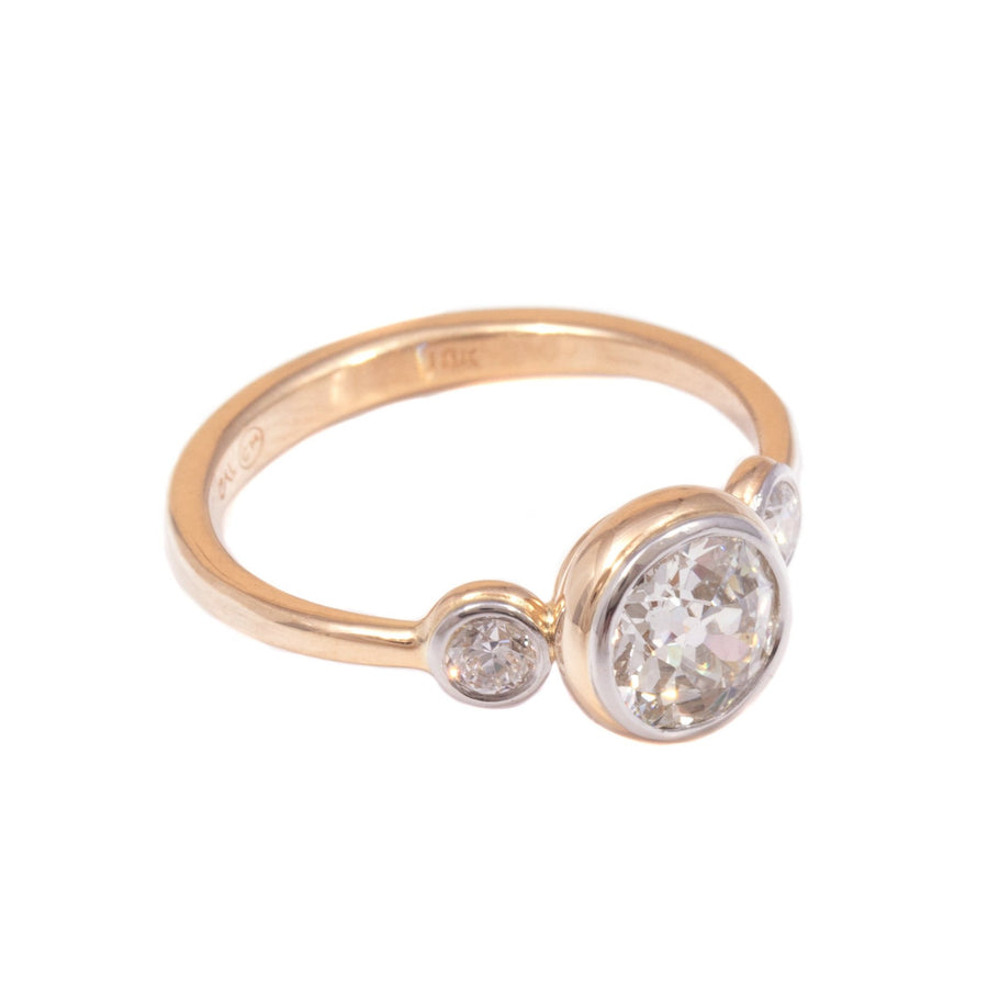 European Cut Diamond Ring