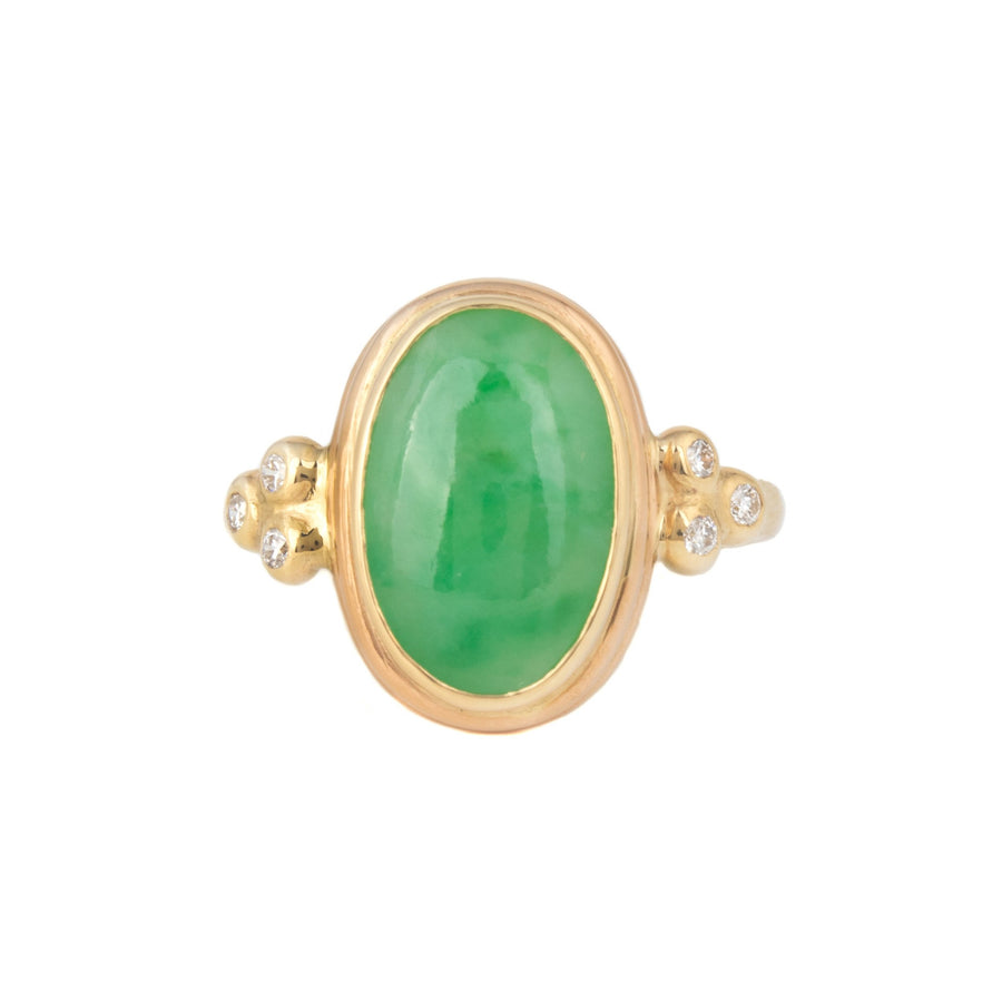 Jadeite Ring with Diamonds