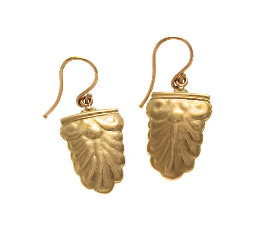 Wax Repoussé Greek Motif Earrings
