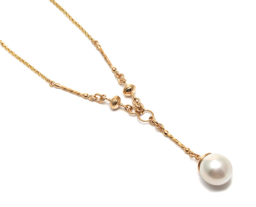 Lariat Style Necklace with South Sea Pearl