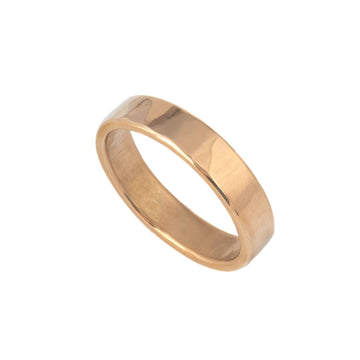 Peened Wedding Ring in 18K Yellow Gold