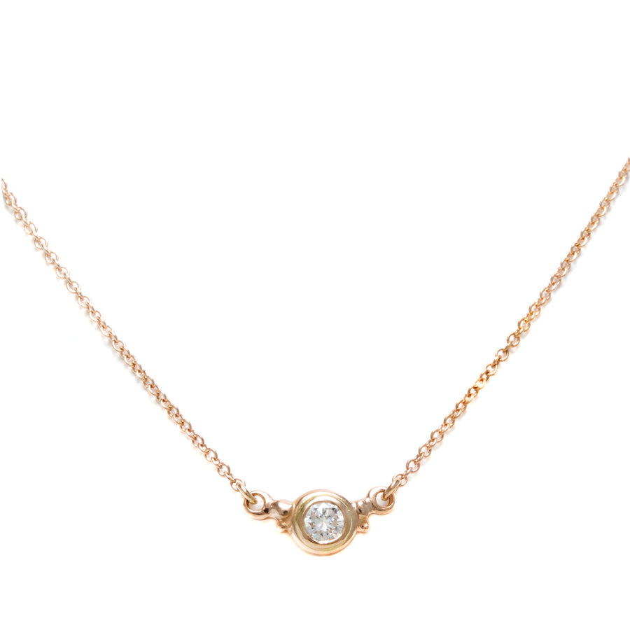 Double Hung Diamond Necklace in Rose Gold