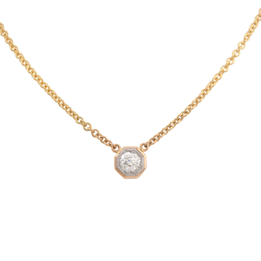 Bead Set Diamond Pendant