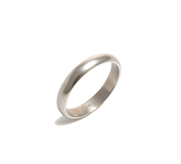 Matte Finish Platinum Wedding Ring