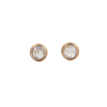Rose Cut Diamond Stud Earrings