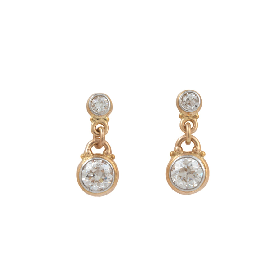 European Cut Diamond Stud & Dangle Earrings