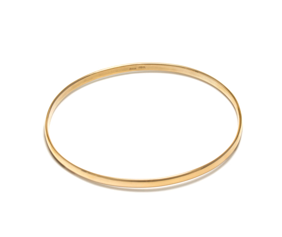 Classic Oval Bangle Bracelet