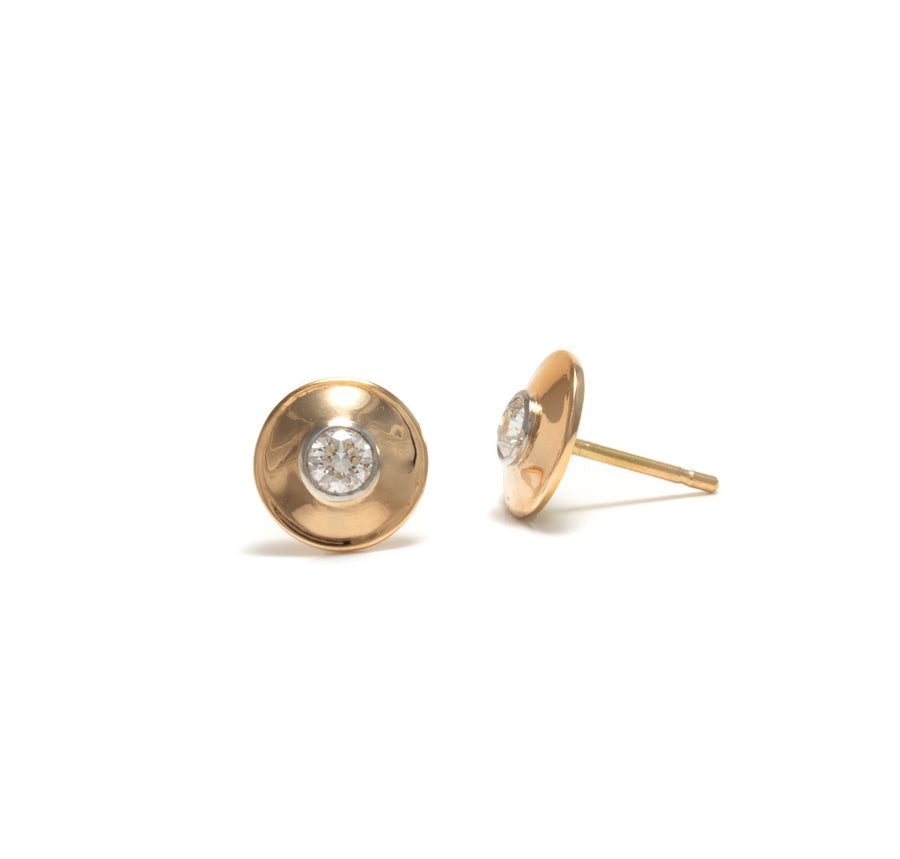 Disk Style Stud Earrings